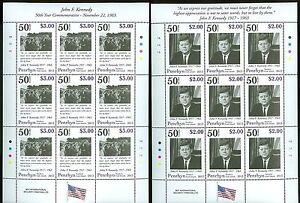 PENRHYN JOHN F KENNEDY 50TH MEMORIAL ANNIVERSARY SET OF TWO SHEETS OF NINE