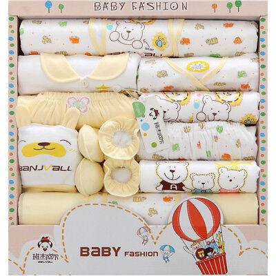 18pcs//Lot cotton newborn infant Clothes Set original baby Boy Girl Clothing gift