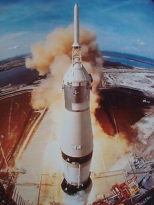 APOLLO 11 LIFT OFF 1ST ONE ON MOON LIFE MAGAZINE 1969 PHOTO ON 4X6 GLOSSY PAPER