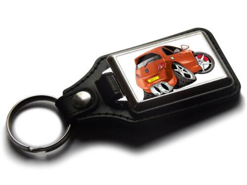 Koolart Cartoon Car Ford KA Classic Rear Leather and Chrome Keyring