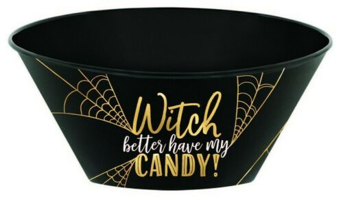 HALLOWEEN WITCHES CANDY BOWL 25 cm TRICK OR TREAT PARTY celebration