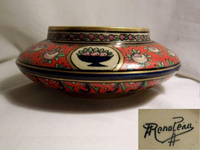 VIDE POCHE ancien A. RENOLEAU céramique d'Art ANGOULEME déco Marquise de Sévigné