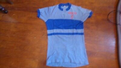 Cycling Maillot Vélo Vintage Asptt Pau Bleu Unisport 75cm Sur 50cm Other Cycling Clothing