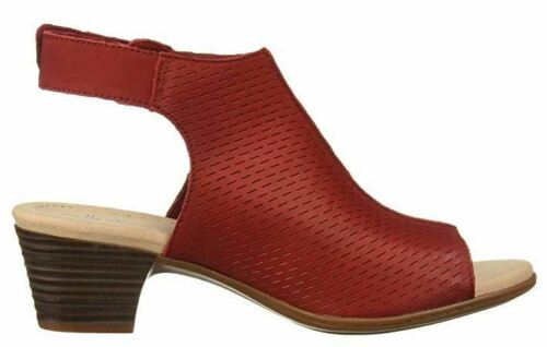 NEW Details about  /Clarks Collection Leather Heeled Sandals Valarie James Red