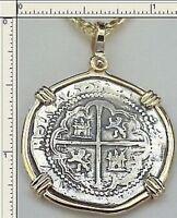 Atocha 2 Reale Spanish Coin Jewelry Key West Treasure Blackbeard Kidd Morgan Bar