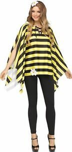 Bumblebee Bee Poncho Womens Adult Costume Accessory NEW