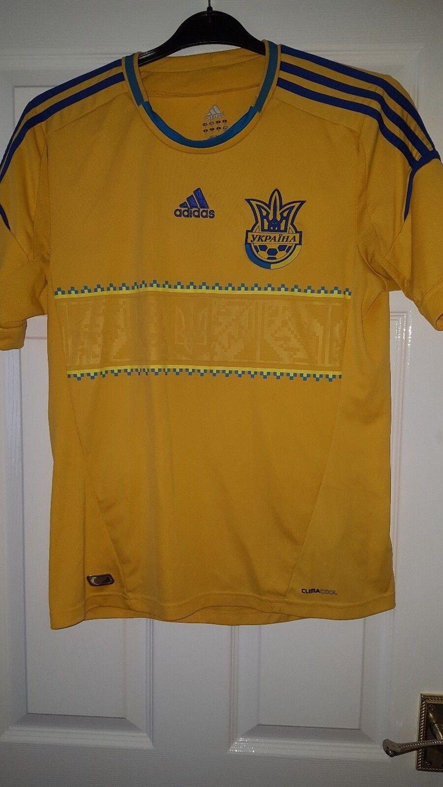 Para Hombres Camisa De Fútbol  Equipo Nacional-Ucrania-Home 2011-2013 - Adidas-Amarillo M  precios bajos