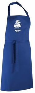 Santa is a Wigan Fan Christmas Apron.Secret Santa Gift