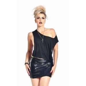 Patrice-Catanzaro-Demon-Mini-Jupe-courte-sexy-fetish-en-vinyle-noir
