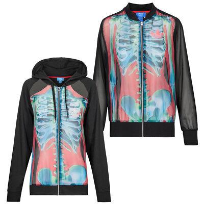 adidas Originals Rita Ora Damen Jacken Kapuze Full-Zip Hoody Designer Jacke neu