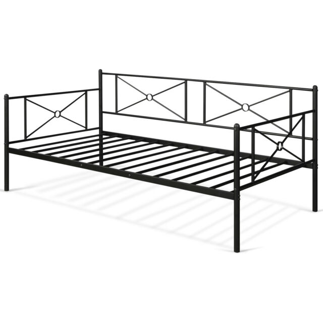 Metal Daybed Twin Bed Frame Stable, How Tall Is A Twin Bed Frame