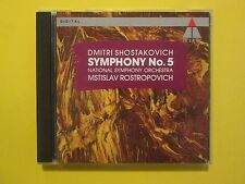 Dmitri Shostakovich Symphony 5 Mstislav Rostropovich Classical CD