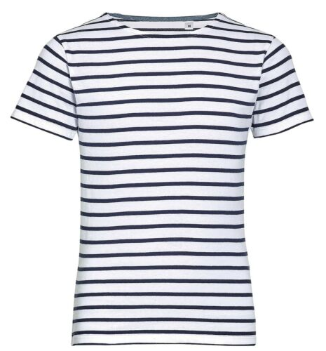 Kinder Jungen Mädchen Kinder Blau Weiß Rot Gestreift T-Shirt Baumwolle T-Shirt