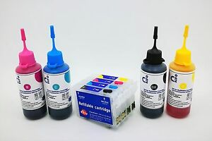Refillable-Ink-Cartridge-Kits-for-Epson-WorkForce-WF7210-WF7620-NON-OEM