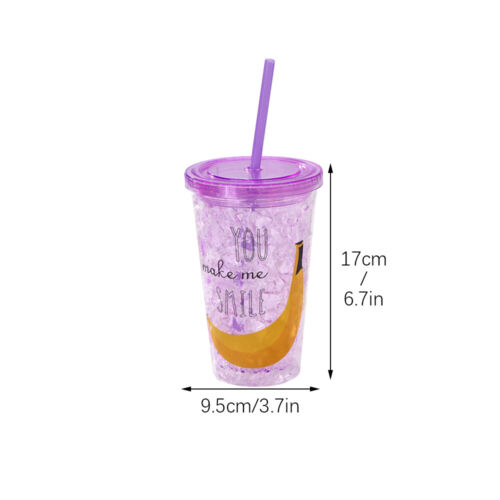450lm Cup Sipper Cup  Plastic Drinking Cup with Straw /& Lid