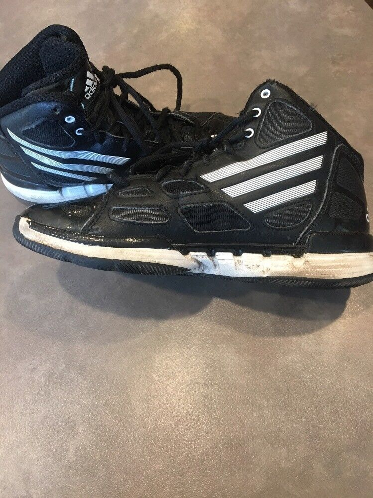Adidas Adizero Crazy Light Basketball Top Shoes Mens 7.5 High Top Basketball Trainers Black Whi d79aef