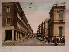 Vecchia Cartolina di Caserta Fotografia VIA CESARE BATTISTI centro storico foto