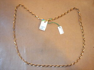 CHAINE PLAQUE OR MAILLE FINE LONG 50 CM 6 G VINTAGE NEUF//NEW GOLD PLATED CHAIN