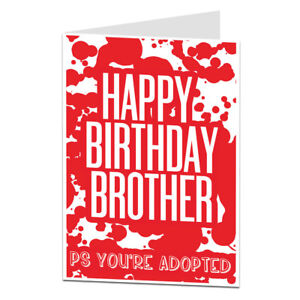 image is loading funny rude happy birthday brother card perfect for
