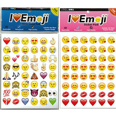 Cute Fashion Lovely 48 Die Cut Emoji Smile Face Sticker  Phone Laptop Decor