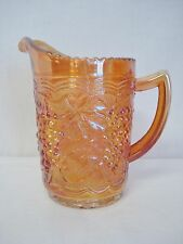 """Imperial Glass Marigold Carnival 6"""" Milk Pitcher Grape & Cable Minty Small"""