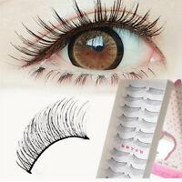 10Pairs Natural Thick Long False Eyelashes Fake Eye Lashes Voluminous Makeup Set
