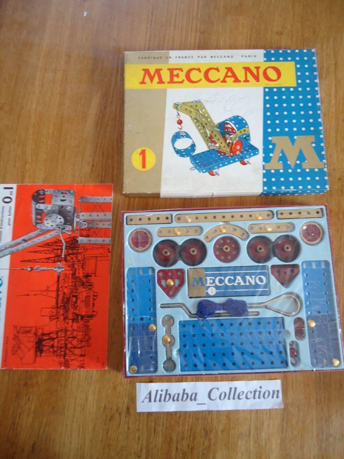 MECCANO ANCIEN BOITE 1 série M M M 201 années 1960 troisieme no lot 80c7cb