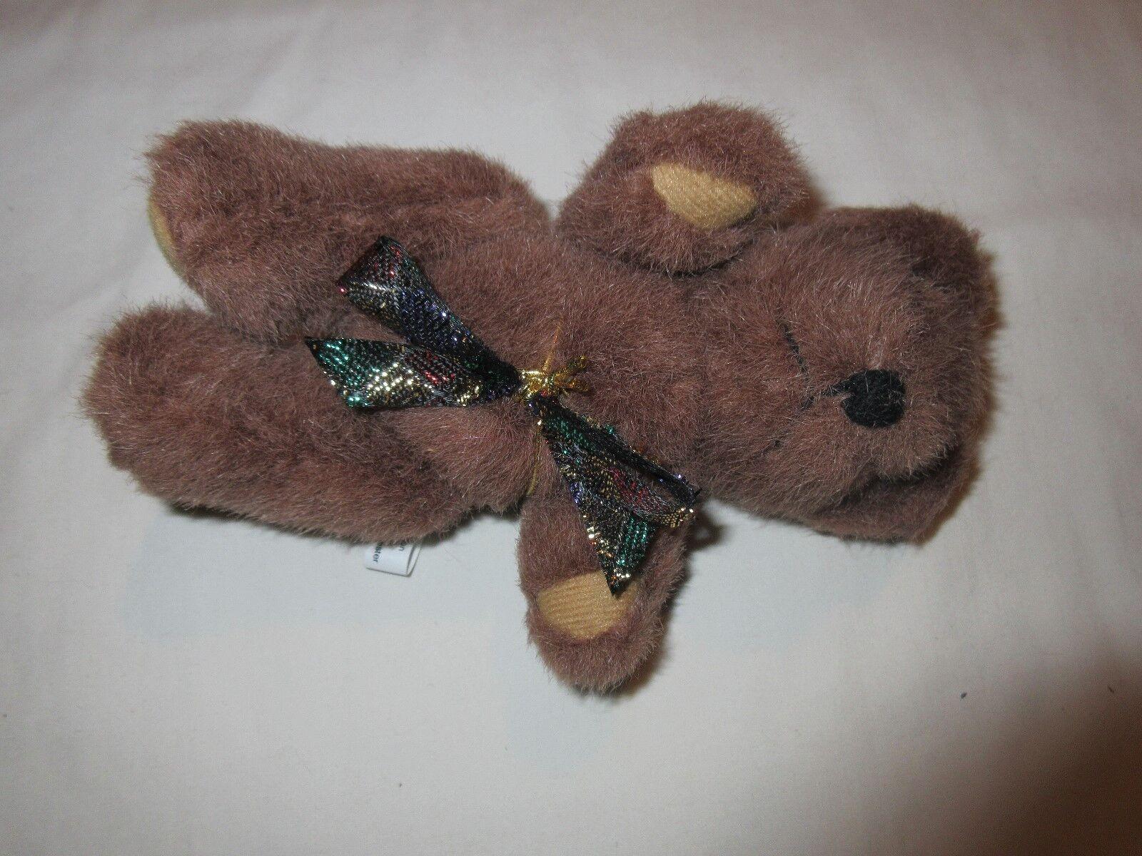 Christmas Decoration, Minitature Stuffed Bear With Holi
