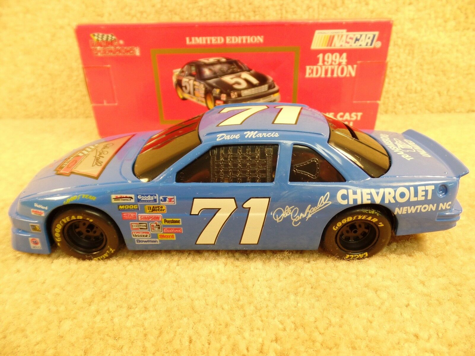1994 Racing Champions 1 24 diecast NasCoche Dave Marcis Dale Earnhardt Chevrolet un