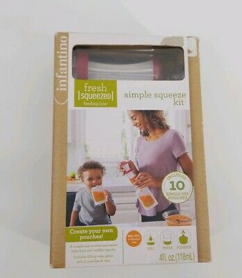 Dispatched From UK Infantino Fresh Squeezed Feeding Line 50-Pack Squeeze Pouches