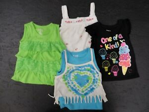 Diligent Girl's Clothing Lot Shirts 4pcs.- 24mo To Enjoy High Reputation In The International Market