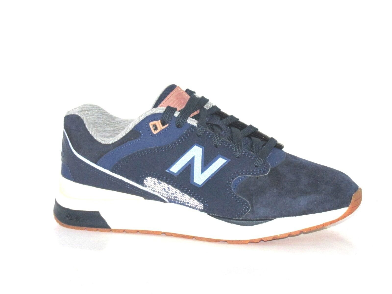 Mens New Balance Balance New ML1550SC Navy Azul Suede Trainers  95 d585ab