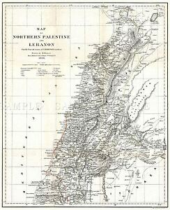 MAP-ANTIQUE-1856-KIEPERT-LEBANON-HISTORIC-LARGE-REPLICA-POSTER-PRINT-PAM0326