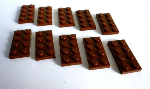 Basicsteine in 2x4 flach braun Neuware 10 x LEGO® 3020 Baustein