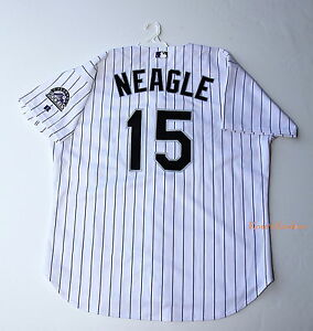 reputable site 50bfd 7ba65 Details about DENNY NEAGLE COLORADO ROCKIES AUTHENTIC RUSSELL HOME JERSEY -  SIZE 52