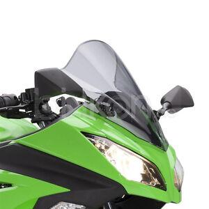 Kawasaki Ninja 300 Tinted Domed Disc Windshield Ebay