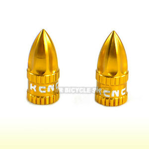 Bike Tube Caps Ano Gold Aluminum Bicycle Presta Valve Cap Set