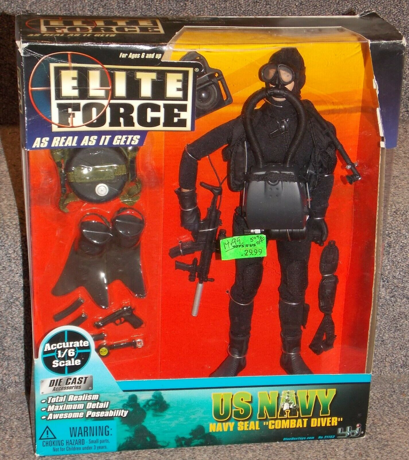 2002 Elite Force Us Navy Navy Seal combate Diver 1 6th Escala Figura Nueva En Caja