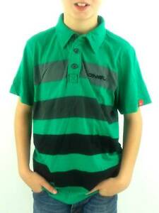 O-039-Neill-Polo-Chemise-a-manches-courtes-Electrics-vert-raye-col