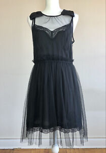 Medium Rodarte for Target Limited Edition Black Lace & Tulle Slip Dress