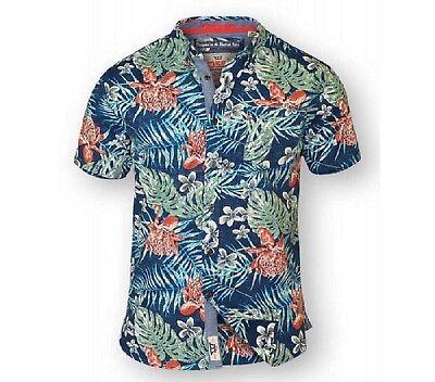 hommes big taille duke D555 coton chemise hawaïenne 3XL 4XL 5XL 6XL 7XL 8XL * neuf