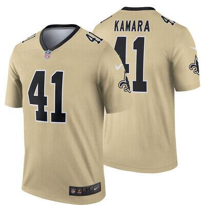 premium selection 362f0 ce813 NEW Nike 2019 Alvin Kamara 41 New Orleans Saints Inverted Jersey Legend  Edition | eBay