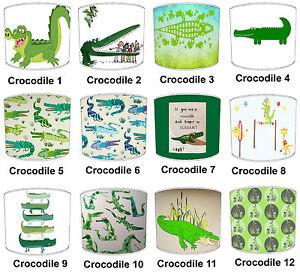 Abat-jour-Ideal-Correspond-A-Crocodile-Couettes-Couvres-amp-Bordure-Papier-Peint