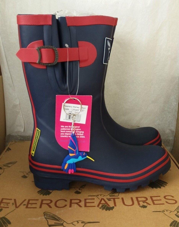 Evercreatures Raspnavy Short Wellington Stiefel Festival Stiefel - Größe UK4 EU 37