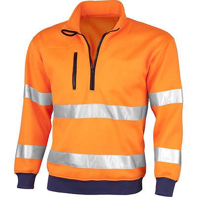 QUALITEX Warnschutz Sweatshirt Signal ws Warnshirt Warnsweater Warnschutzsweater