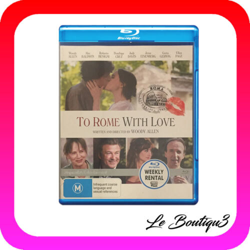 1 of 1 - To Rome With Love (Blu-ray, 2013) EX-RENTAL