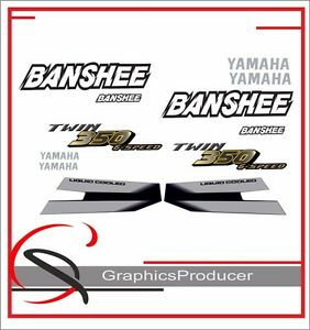 Yamaha Banshee Decals 1997 Reproduction Black And Red Model  Set Custom Design