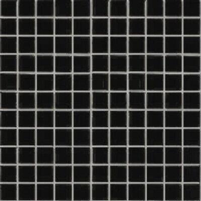 Black Gloss Glazed Ceramic Mosaic Tile