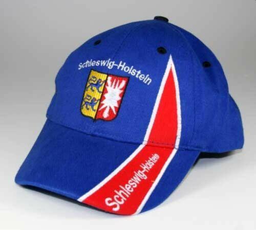 Hilkeys Schleswig-Holstein Baseballcap avec écusson bleu rouge brodé Baseball Cap