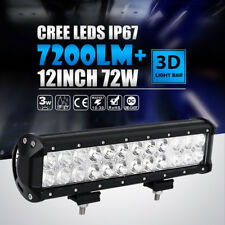 "12"" INCH 72W Cree Led Work Light Bar Flood Spot For ATV UTV Boat Driving Offroad"